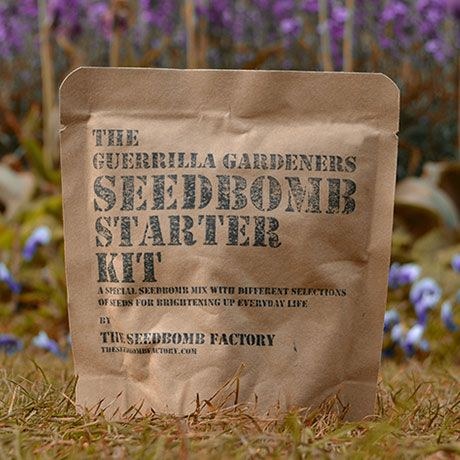 Guerrilla Gardening Seed Bomb Kits by The Seed Bomb Factory   MONOQI