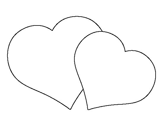 Double heart pattern use the printable outline for crafts for Double heart coloring pages