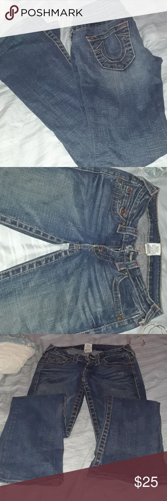 Gently used true religion jeans Old style of name brands jeans True Religion Jeans Boot Cut