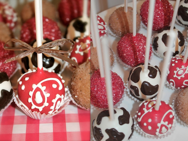 Country western themed cake pops