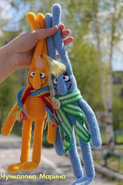 Вязание ручной работы. Мастер-класс Майский заяц. Марина Чучкалова…