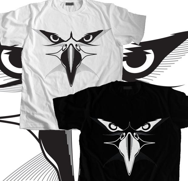 Eagle Eyes - Black T-Shirt