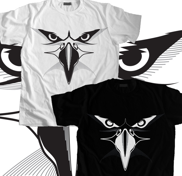 Eagle Eyes - Black T-Shirt