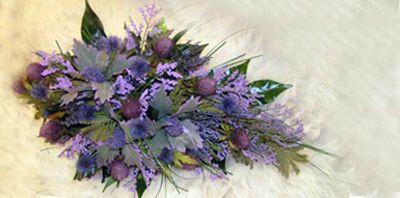 A scottish wedding bouquet
