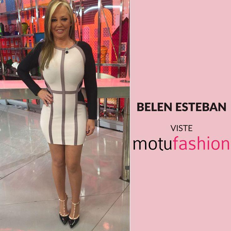 Guapísima Belén con vestido bandage de motufashion