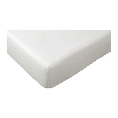 IKEA - BRÖDGRAN, Spannbettlaken f Matratzenauflage, 90x200 cm, , Dank des eingearbeiteten Gummibands lassen sich BRÖDGRAN Spannbettlaken einfach und faltenfrei aufziehen. Passend für Matratzen und -auflagen bis zu 12 cm Stärke. Optimal auch für die Auflagen bei Boxspringkombinationen.