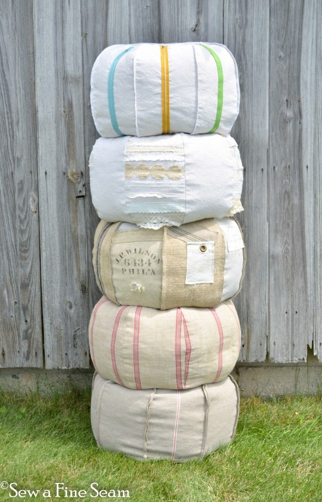 detailed instructions including photos - so you can make your own pouffe or make them for gifts!