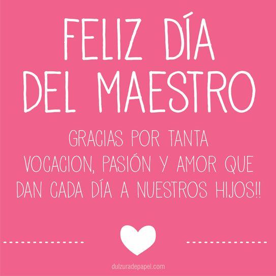 Feliz Día del Maestro!                                                       …