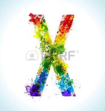 Farbe Farbspritzer Letter X photo