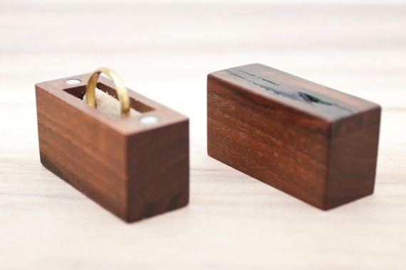 Ring box made from walnut wood  engagement ring by BelisamaCrafts #proposal #ring #box #keepsake #walnut #wood #wooden #woodworking #jewelry #jewellery #Belisama #belisamacrafts #etsy #Siamanis