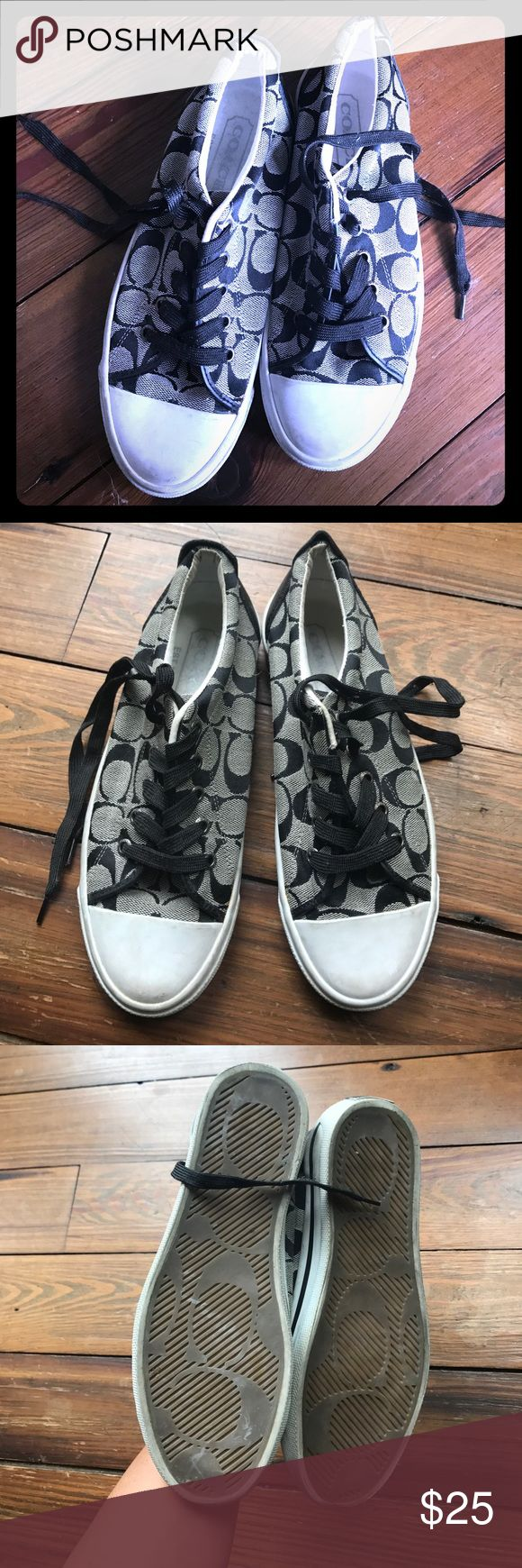 Size 8-1/2 Coach tennis shoes Used but good condition, size 8-1/2 coach tennis shoes Coach Shoes Sneakers