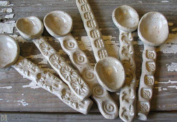 Ceramic Spoon   Coffee Spoon  Sugar spoon  Salt by DragonflyArts, $14.00