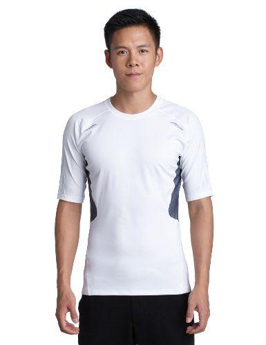 adidas Herren kurzärmliges Shirt Techfit Preparation, white, M, W58878
