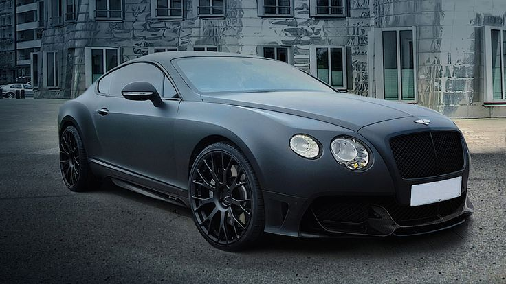 Matte Black Blacked Out Bentley Continental GT