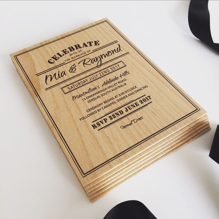 Inspired Design are pleased to announce the launch of our latest range of wooden invitations. YES we actually print on wood. #timberinvitations #woodeninvitations #weddinginvitations #inspireddesigninvitations #inspireddesigninvites #woodenweddinginvitations #rusticinvitations #bespokeinvitations #timberweddinginvitations #inspireddesigninvitations #weddingstyling #weddingstylingmelbourne