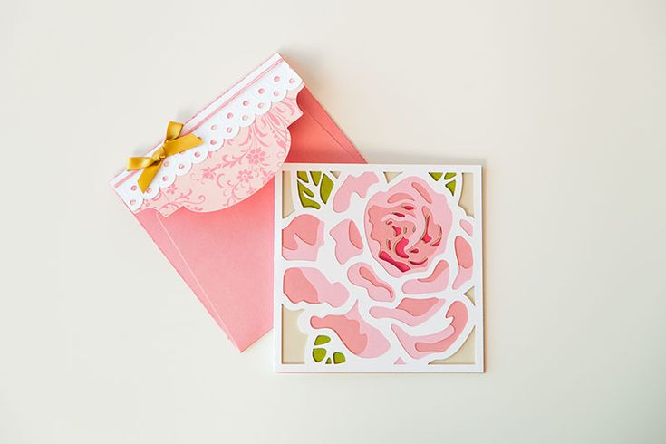 This Anna Griffin Layered card is TOO lovely for words! (And perfect for Mother's Day!)