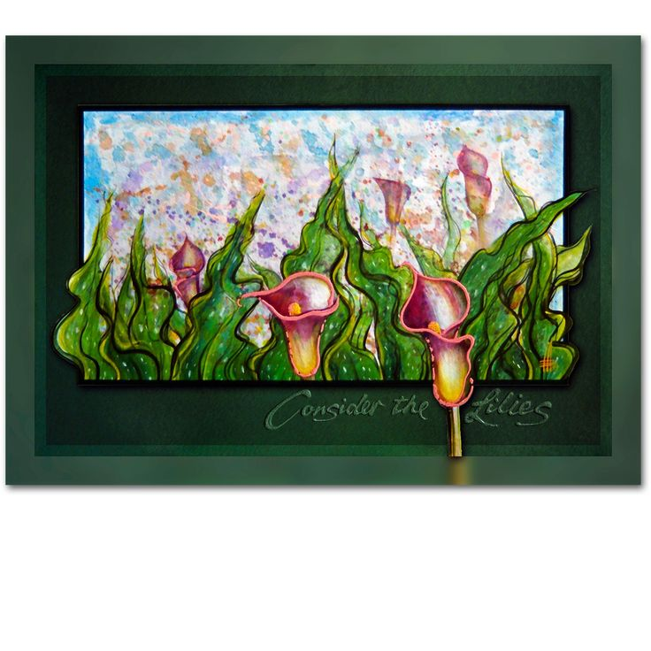 CONSIDER THE LILIES 1 - From the hand of a master craftsman - Ian Anderson Fine Art http://ianandersonfineart.com/portfolio-1/