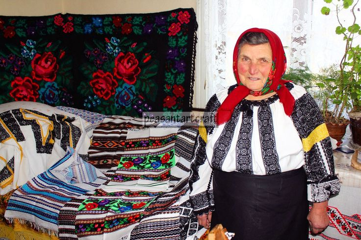 You must have seen it so often it doesn't strike you as a peasant art craft. Loom weaving the Romanian blouse..involves the same age-old methods
