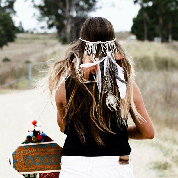 Bohemian feather headdress  ✨