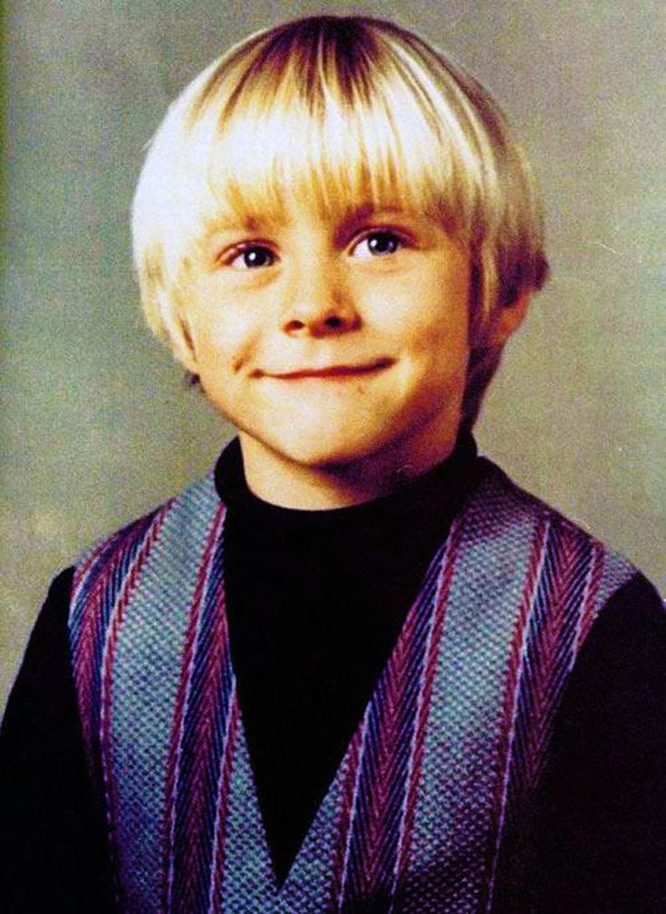 Childhood photo of Kurt Cobain use at His Funeral Service