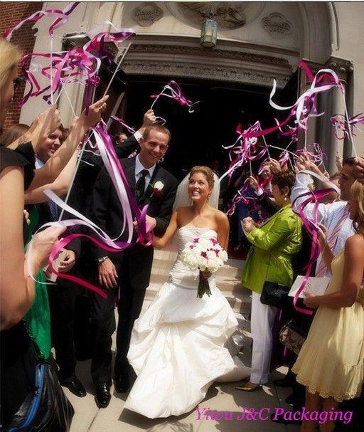 Livraison gratuite 50 pcs de mariage 3 couleur ruban baguettes, De mariée flux ruban Sticks baguettes avec & métal fin et 2 cloches ( JCO RA06 dans Accessoires de fêtes et d'évènement de Maison & Jardin sur AliExpress.com | Alibaba Group