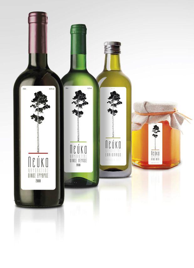LEFKA | WINE / OLIVE OIL & HONEY LABEL