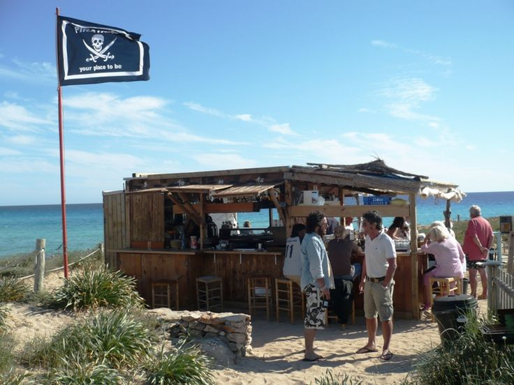 Pirata Bus is one of the oldest beach bars on Formentera.