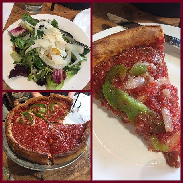 Giordano's Pizza - BEST pizza in Chicago.  Restaurant on Navy Pier was nice.