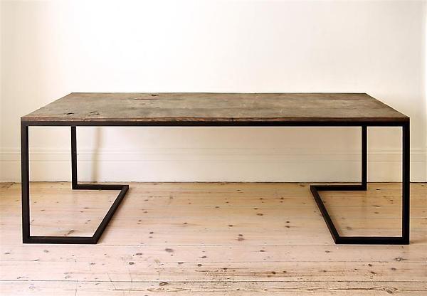 Modernist steel table