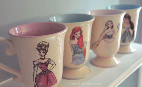 Disney princess teacups