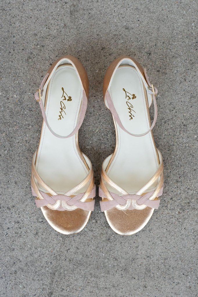 Braut Sandale Mit Flecht Muster In Altrose Und Gold Zur Hochzeit Boston Braut Sandalen Schuhe Hochzeit Brautschuhe