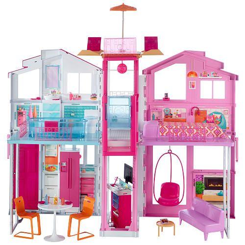 "Barbie Pink Passport 3-Story Townhouse Set - Mattel Girls - Toys ""R"" Us"