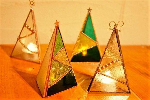 Christmas*tree*LEDキャンドルホルダー♢*|その他インテリア雑貨| 木葉木♢*コノハノコ|ハンドメイド通販・販売のCreema