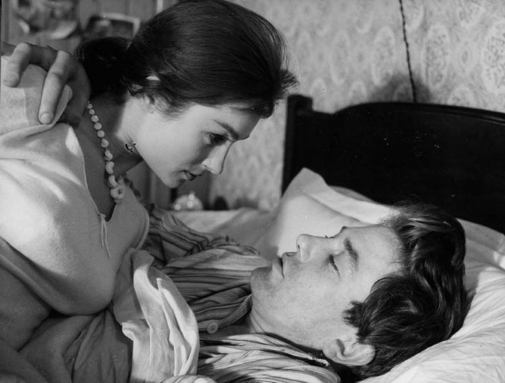 Shirley Anne Field and Albert Finney in Saturday Night and Sunday Morning, 1961