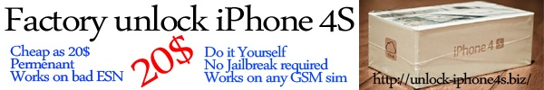 Best solution for iPhone 4S factory unlock