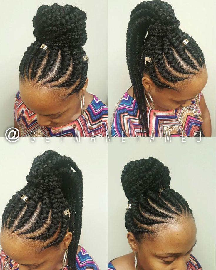 feed in braids. cornrows