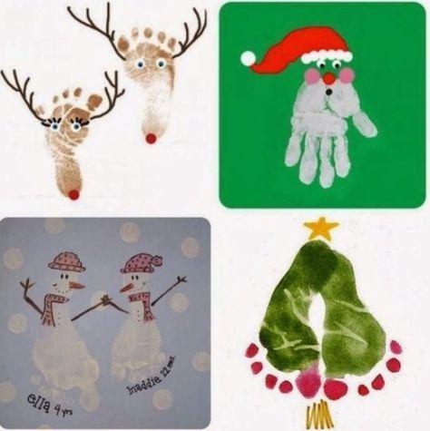 Christmas handprint & footprints