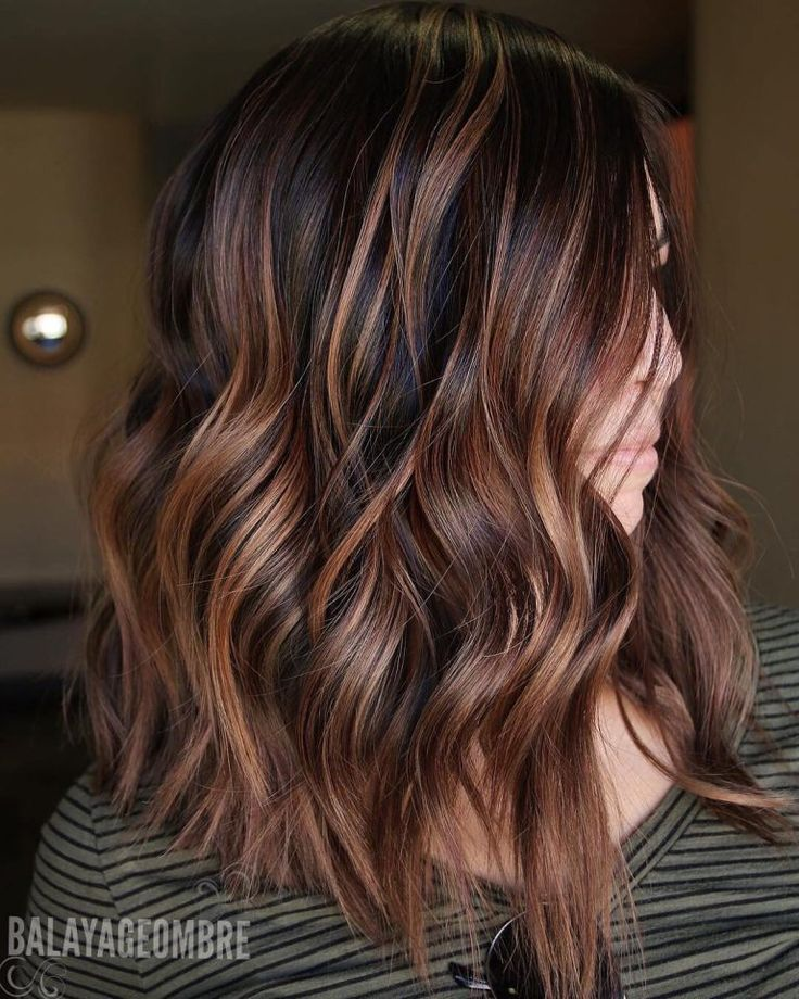 Best Brown Balayage Hair Designs For Medium Length Hair Medium Hairstyle Color The Right Hair Styles Hair Styles Dark Brown Hair Color Long Hair Styles