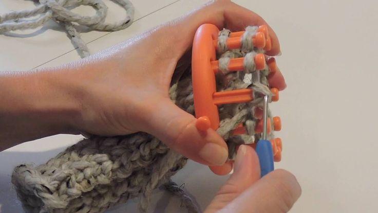 Loom Knit Child's Slipper