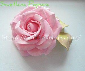 Как сделать розу из фоамирана. Мастер-класс Светланы Поповой.