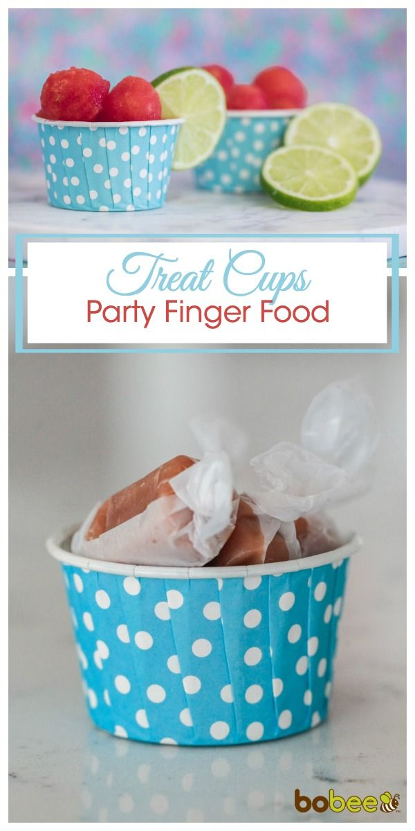 These treat cups do it all! From a 1st birthday party with Cheerios, a little girls party with fruit, to an adult party with beautiful candies.