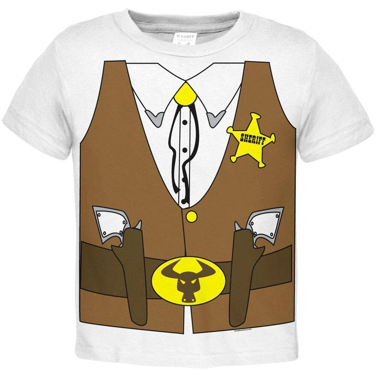 Sheriff Costume Toddler T-Shirt