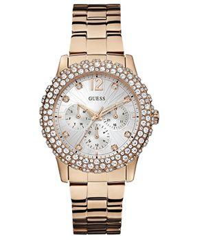 Montre Guess Or rose et Strass - GUESS - Le produit du jour est une montre extremement féminine signée Guess. Strass à gogo, Or rose et cadr... http://www.rienasemettre.fr/produit-du-jour/montre-guess-rose-et-strass/