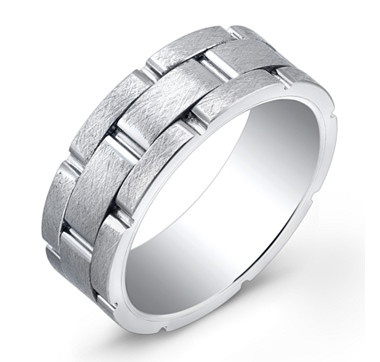 Italgem Super Titanium and Tungsten Blend with Brush Finish, 8mm Band from the shopping channel #ilovetoshop