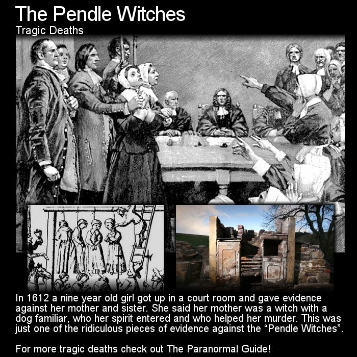 The Pendle Witches. Witch trials regardless of where they took place were horrific and unjust events. Once charged it was a grim outlook for you... Read about The Pendle Witches here: http://www.theparanormalguide.com/blog/the-pendle-witches
