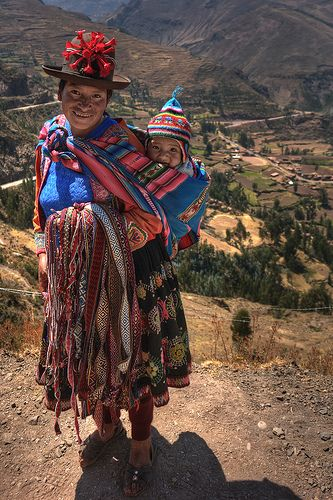 Mother and baby from Peru.
