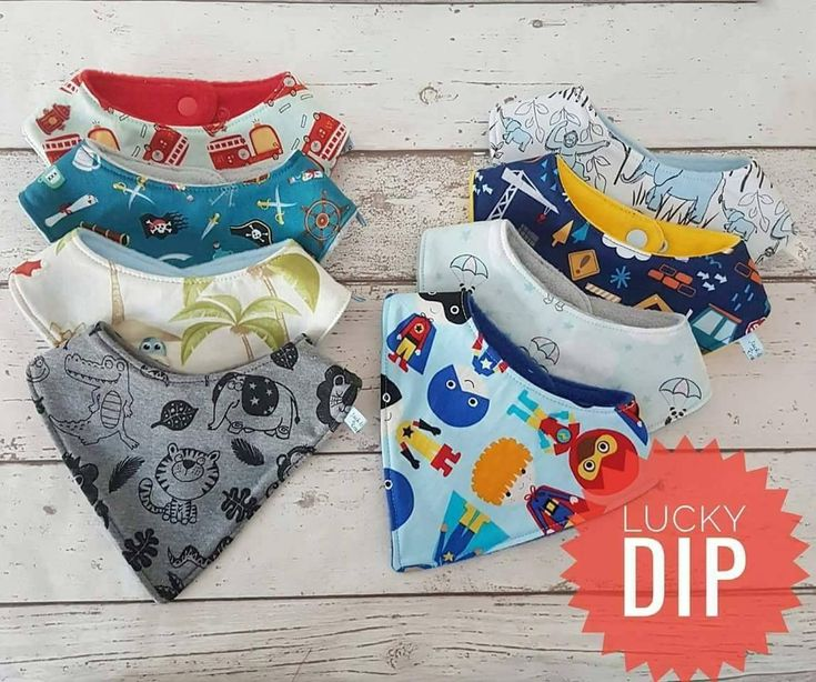 Lucky dip selection of baby boys bibs made from high quality designer fabrics #baby #babyboy #boysbib #babyshower #etsy #babygift http://etsy.me/2Cy9OcC