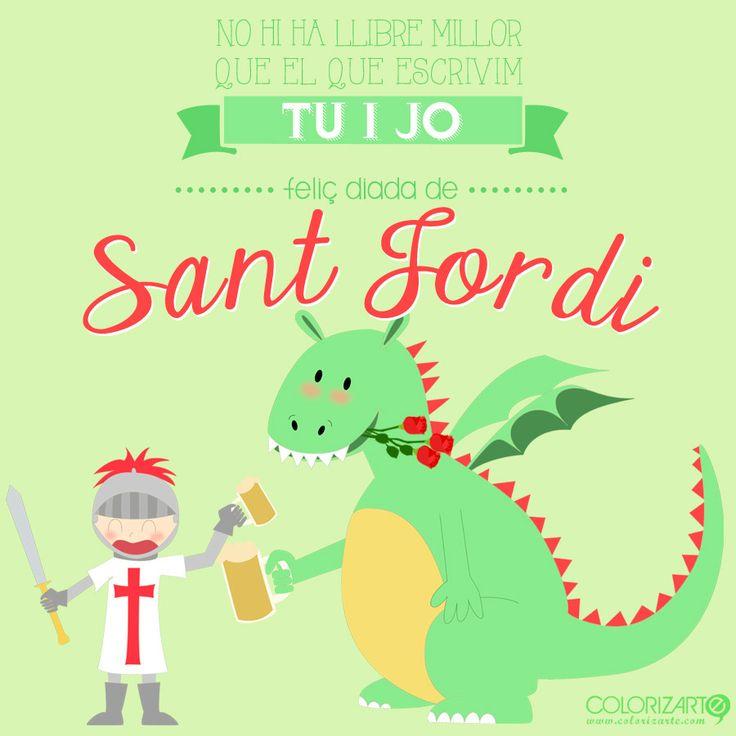 Sant Jordi 2015 :: Cuenta la leyenda que el caballero Sant Jordi mató al dragón atravesándole el corazón con una lanza. De la sangre derramada creció un rosal del cual arrancó una rosa y se la regaló a la princesa, demostrándole así su amor. Por esa razón, en este día es tradición que el chico le regale una rosa a su chica y, con motivo del Día del Libro, ella le regale un libro a su chico. #santjordi #diseño #ilustracion