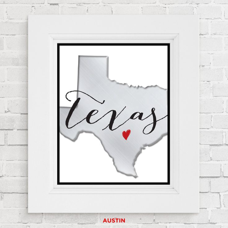 Texas wall art. Houston Austin or Dallas. Texas State Print Texas Art Print Home wall art Apartment wall art College gift Brushed Metallic by studioKdesign84 on Etsy