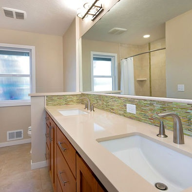 27 best images about ranch style remodel on pinterest for Ranch bathroom ideas